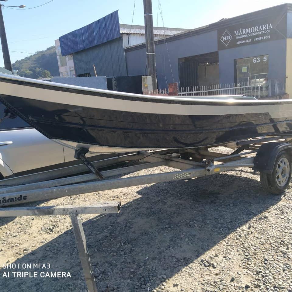Barco de aluminio - novo